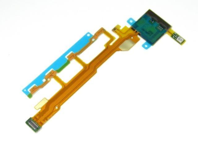 Lanksčioji jungtis Sony L36h/C6603 Xperia Z šoninių mygtukų su mikrofonu ir zumerio jungtimi originali