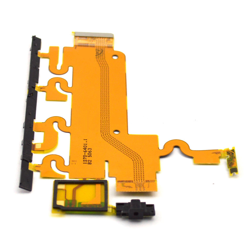 Lanksčioji jungtis Sony L39h C6902/C6903/Xperia Z1 šoninių mygtukų su mikrofonu ir zumerio jungtimi ORG