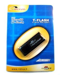 Micro SD (T-Flash) kortelių skaitytuvas AMRD-09 (OTG)