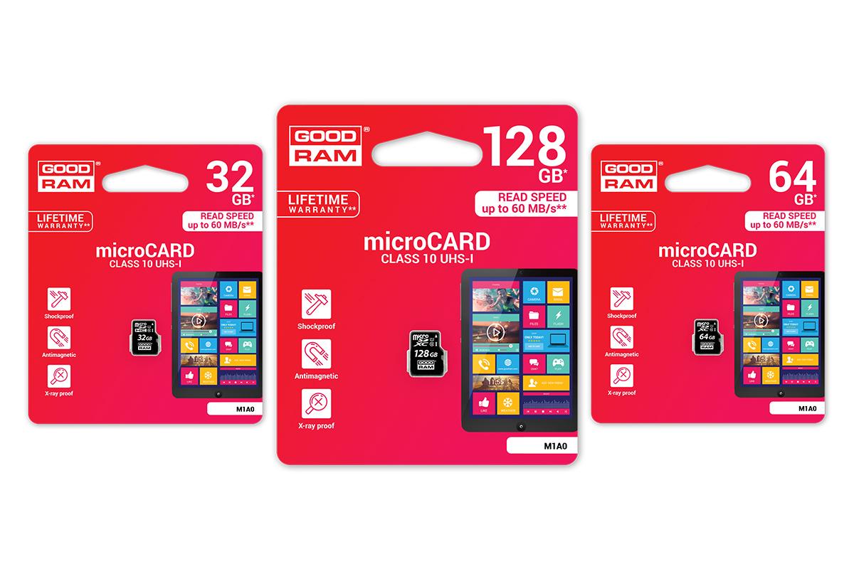Atminties korta Goodram microSD 16Gb (class 10) be adapterio
