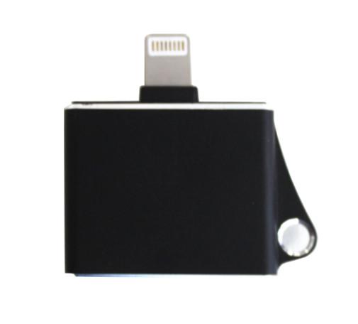 Audio adapteris Apple Lightning į 2xLightning HQ (ausinių ir krovimo jungtys) metalinis juodas