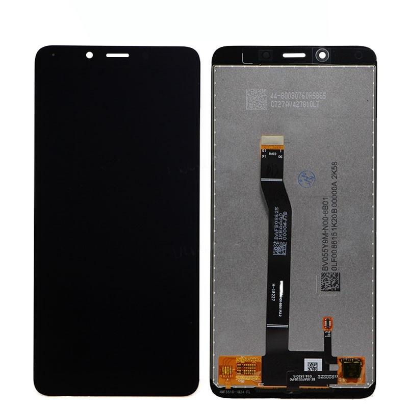 Ekranas Xiaomi Redmi 6/6A su lietimui jautriu stikliuku juodas HQ