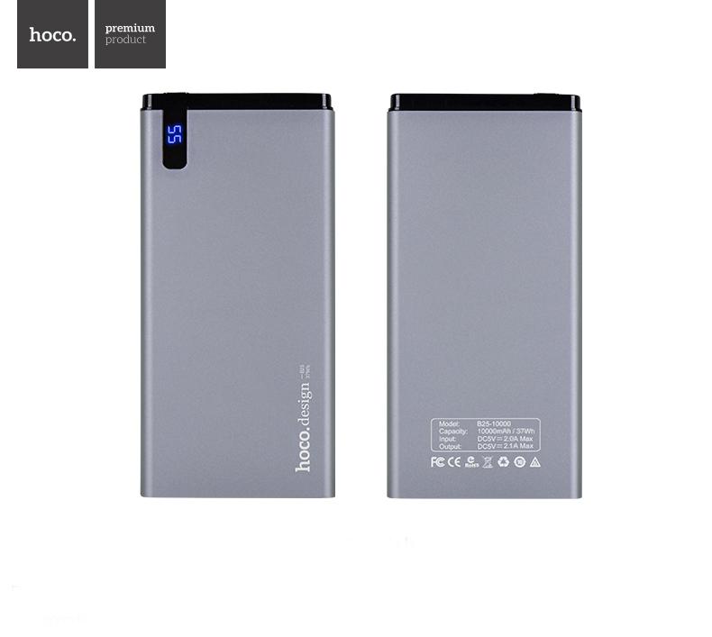 Išorinė baterija Power Bank Hoco B25 10000mAh pilka