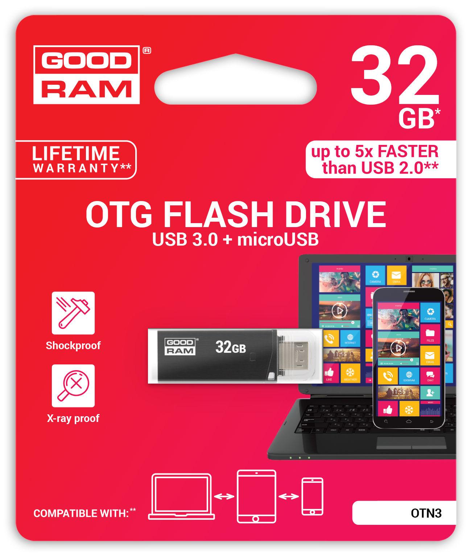 Atmintinė Goodram OTN3 32Gb OTG USB 3.0 + microUSB