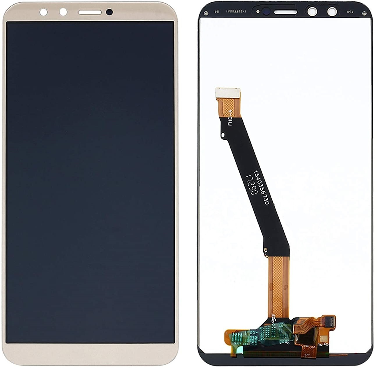 Ekranas Huawei Honor 9 Lite/Honor 9 Youth Edition su lietimui jautriu stikliuku baltas HQ