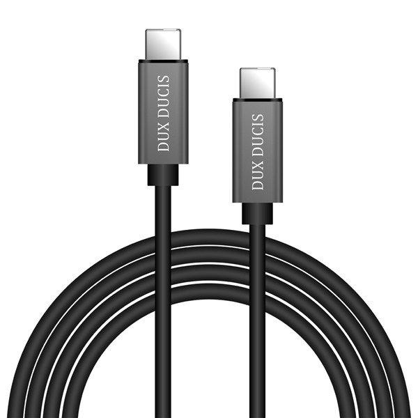 USB kabelis Dux Ducis K-III iš Type-C į Type-C juodas