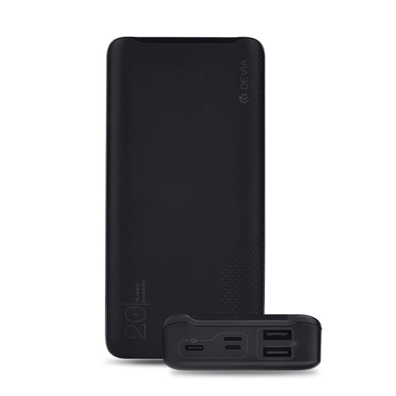 Išorinė baterija Power Bank Devia Digital 20000mAh juoda