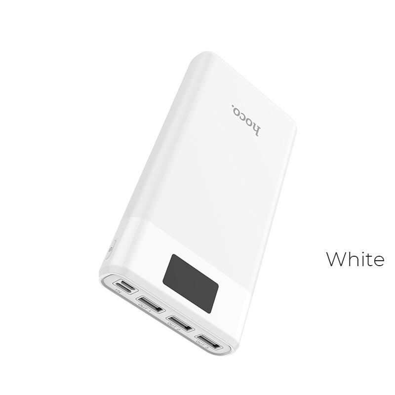 Išorinė baterija Power Bank Hoco J41 su LCD ekranu 10000mAh balta