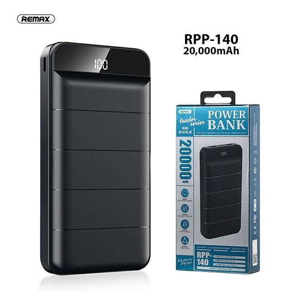 Išorinė baterija Power Bank Remax RPP-140 20000mAh juoda