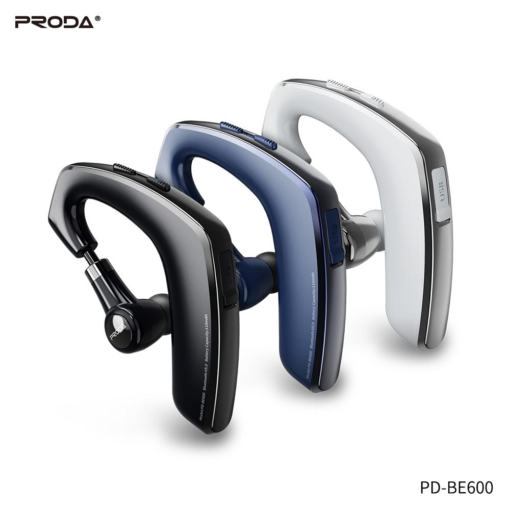 Belaidė laisvų rankų įranga Proda PD-BE600 Bluetooth balta