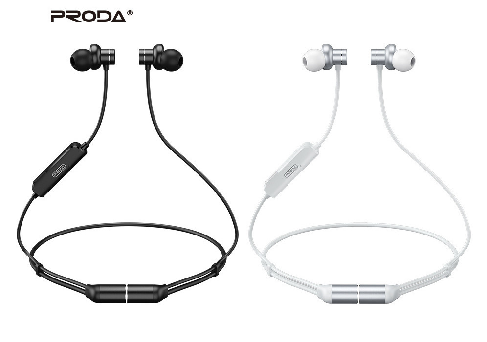 Belaidė laisvų rankų įranga Proda PD-BN400 Bluetooth balta
